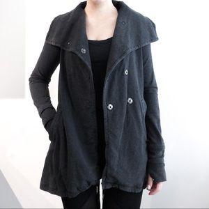 Lululemon Dark Gray Snap Sweater Jacket Size 6